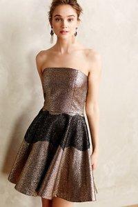 Anthropologie Foil Brocade Mini Dress $248