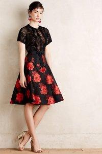 Anthropologie Castilian Rose Dress $268