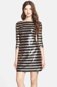 Vince Camuto Stripe Sequin Shift Dress $168