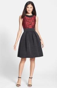 Eliza J  Embellished Jacquard Fit & Flare Dress $178
