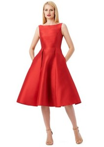 Adrianna Papell Petite Pleated A Line Tea Length Dress $132