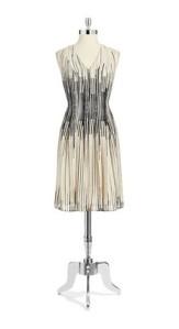 Anne Klein Petite V-Neck Pleat Dress $70