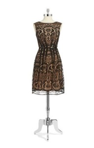 Adrianna Papell Petite Lace Fit and Flare Dress $83